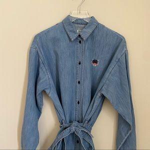 KENZO denim button up shift dress SIZE 38